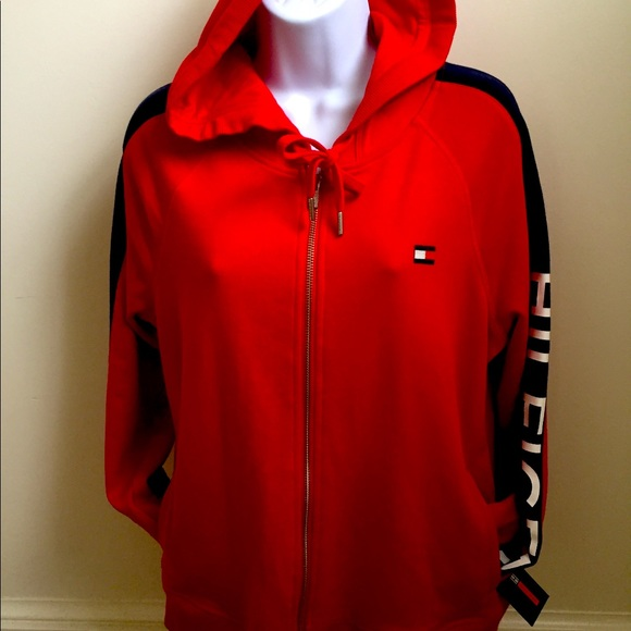 Tommy Hilfiger Sport Hoodie Red and Navy new